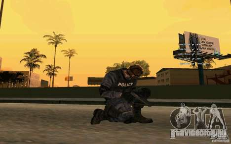 SWAT скин для GTA San Andreas третий скриншот