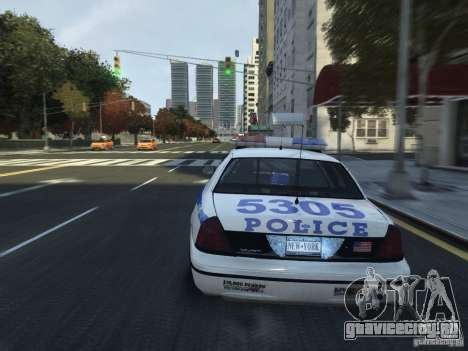 Ford Crown Victoria NYPD 2012 для GTA 4 вид сбоку