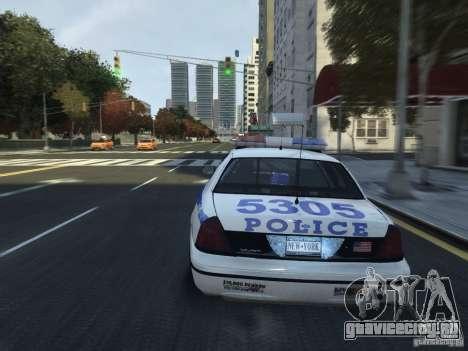 Ford Crown Victoria NYPD 2012 для GTA 4 вид сбоку