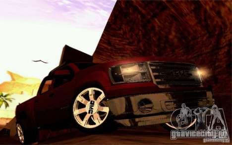 GMC Sierra 2011 для GTA San Andreas вид изнутри
