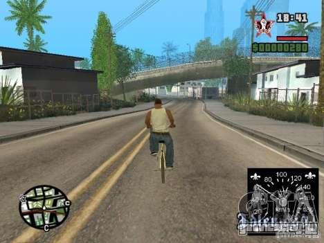 Новый спидометр для GTA San Andreas четвёртый скриншот