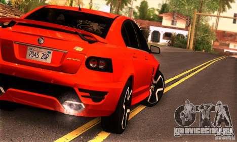 Holden HSV GTS для GTA San Andreas вид сзади слева
