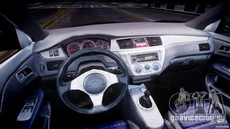 Mitsubishi Lancer Evolution VIII для GTA 4 вид сзади слева