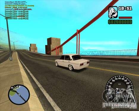 Ваз 2106 tuning для GTA San Andreas вид слева