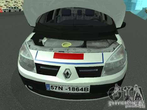 Renault Scenic II Police для GTA San Andreas вид изнутри