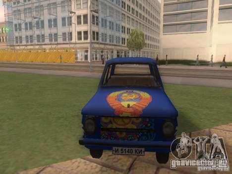 Хиппи ЗАЗ для GTA San Andreas вид сзади