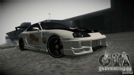 Toyota Supra MyGame Drift Team для GTA San Andreas вид сзади