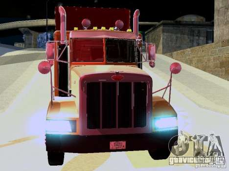Peterbilt 377 Flattop для GTA San Andreas вид слева