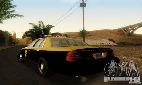 Ford Crown Victoria Maryland Police для GTA San Andreas вид слева