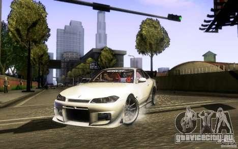 Nissan Silvia S15 Drift Style для GTA San Andreas вид сзади