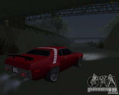Plymouth Roadrunner для GTA San Andreas вид справа