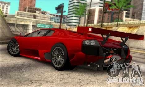 Lamborghini Murcielago R-SV GT1 для GTA San Andreas вид слева