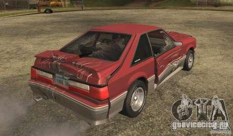 Ford Mustang GT 5.0 1993 для GTA San Andreas вид сбоку