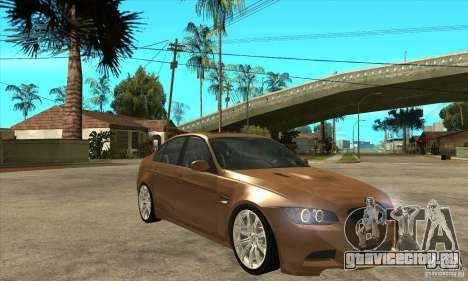 BMW E90 M3 для GTA San Andreas вид сзади