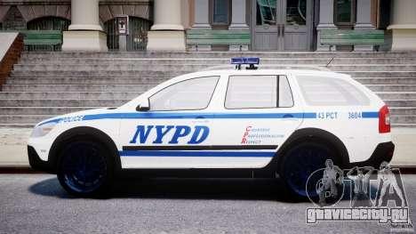 Skoda Octavia Scout NYPD [ELS] для GTA 4 вид сбоку