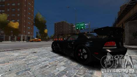 Dodge Viper SRT-10 ACR 2009 для GTA 4 вид сверху