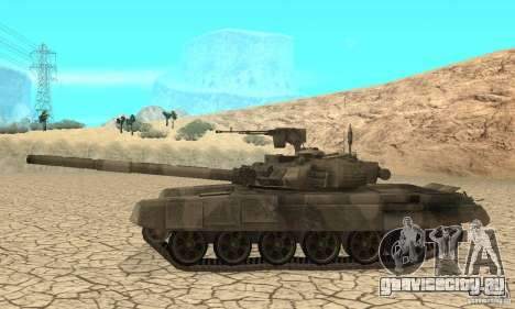 Танк Т-90 Владимир для GTA San Andreas вид сзади слева