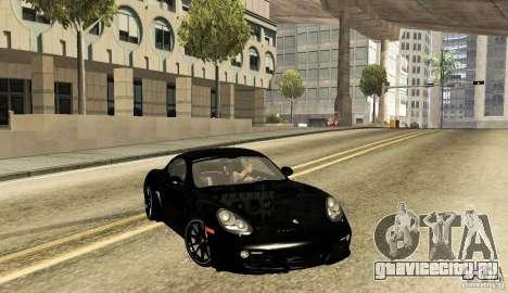 Porsche Cayman R для GTA San Andreas вид сзади слева
