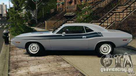 Dodge Challenger RT 1970 v2.0 для GTA 4 вид слева