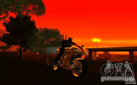 Yamaha YZF R1 Tuning Version для GTA San Andreas вид сзади