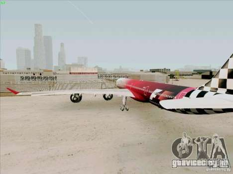 Airbus A-340-600 Formula 1 для GTA San Andreas вид справа