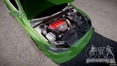 Mitsubishi Lancer Evolution X Tuning для GTA 4 вид сзади