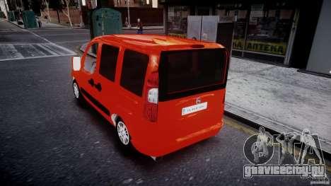 Fiat Doblo 1.9 2009 для GTA 4 вид сзади слева