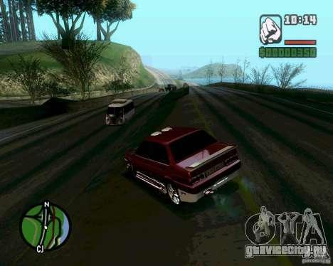 Ваз 21099 NFS Tuning для GTA San Andreas вид сзади слева