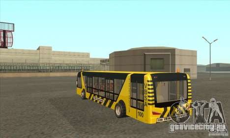 Автобус В Аэропорт для GTA San Andreas вид сзади слева
