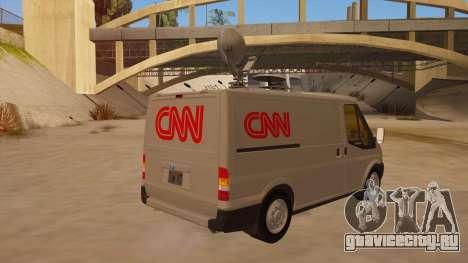 Ford Transit CNN для GTA San Andreas вид справа