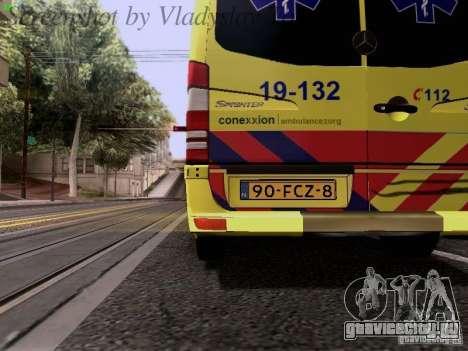 Mercedes-Benz Sprinter Ambulance для GTA San Andreas вид сбоку