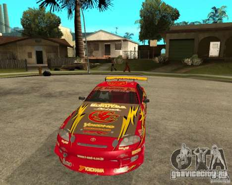 Toyota Soarer для GTA San Andreas вид сзади