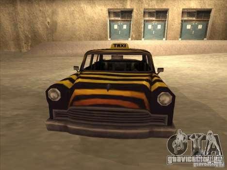 Zebra Cab из Vice City для GTA San Andreas вид сзади слева
