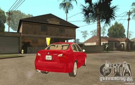 BMW 330i E90 v.2.0 для GTA San Andreas вид справа