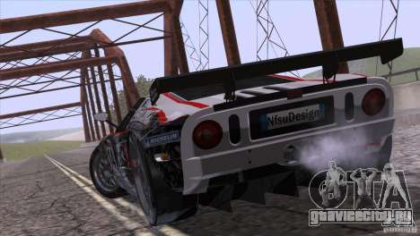 Ford GT Matech GT3 Series для GTA San Andreas вид сзади
