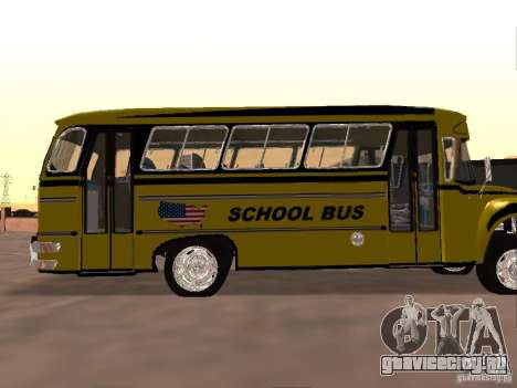 Bedford School Bus для GTA San Andreas вид сзади