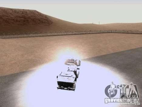 M142 HIMARS Artillery для GTA San Andreas вид изнутри