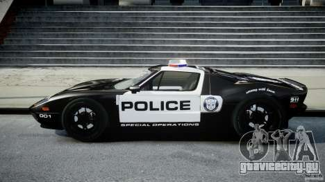 Ford GT1000 Hennessey Police 2006 [EPM][ELS] для GTA 4 вид слева