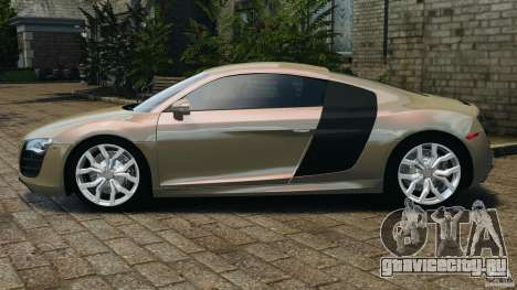 Audi R8 V10 2010 для GTA 4 вид слева