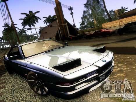 BMW 850 CSI для GTA San Andreas вид сзади