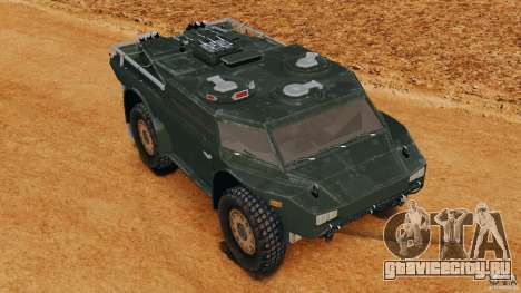 Armored Security Vehicle для GTA 4 вид сбоку