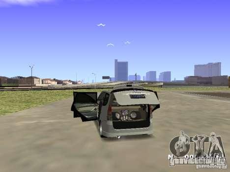 Toyota Avanza Street Edition для GTA San Andreas вид сзади слева