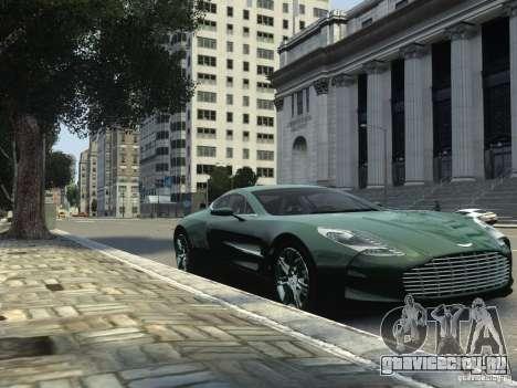 Aston Martin One 77 2012 для GTA 4 вид сзади слева