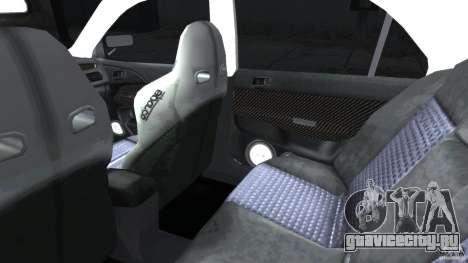 Mitsubishi Lancer Evolution VIII v1.0 для GTA 4 вид изнутри
