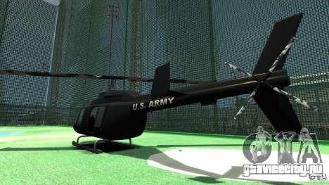 Black U.S. ARMY Helicopter v0.2 для GTA 4 вид справа