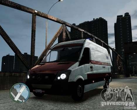 Mercedes Benz Sprinter American Medical Response для GTA 4