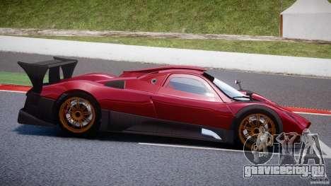 Pagani Zonda R для GTA 4 вид сбоку