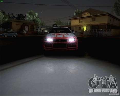Nissan Skyline Z-Tune v2.0 для GTA San Andreas вид сзади слева