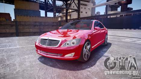 Mercedes Benz w221 s500 v1.0 cls amg wheels для GTA 4