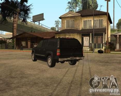 Chevrolet Suburban FBI для GTA San Andreas вид слева